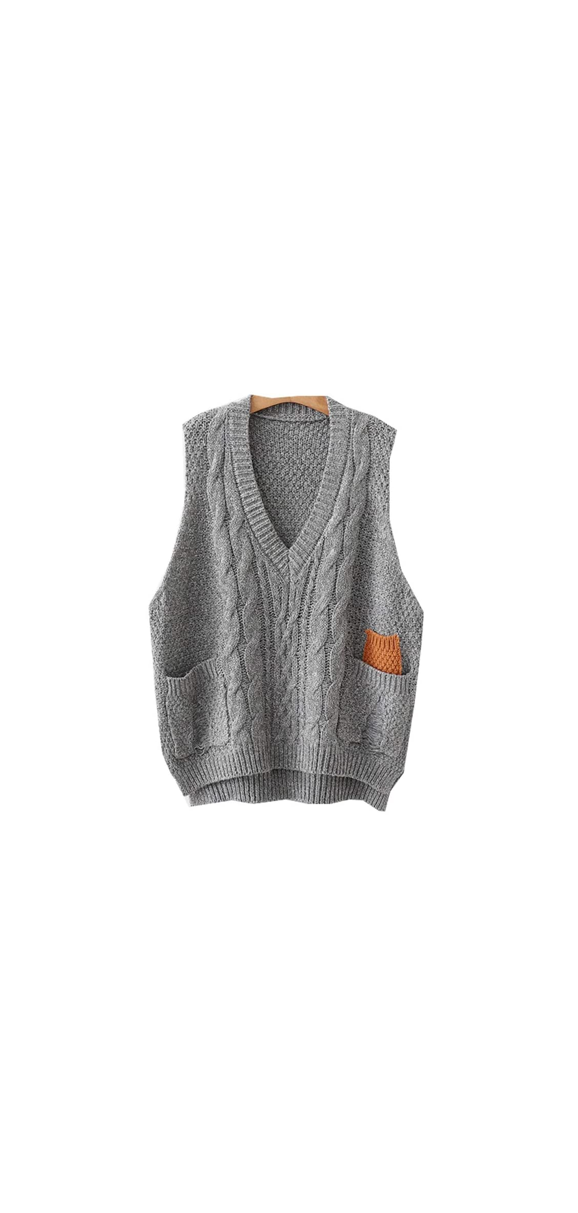 Women's V-neck Knitted Sweaters Vests Sleeveless Casual