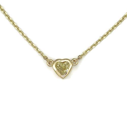 Donna Pizarro Designs 14kt Yellow Gold Yellow Diamond Heart Shaped Necklace aOcyBfTgn