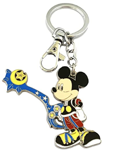 Amazon.com: Llavero de metal esmaltado con diseño de Mickey ...