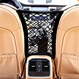 AUTOWN Car Seat Net Organizer Auto Backseat barrier Net Storage Universal Car Armrests Seats Storage Net Stretchy Fine Mesh Net Disturb Stopper From Children And Pets