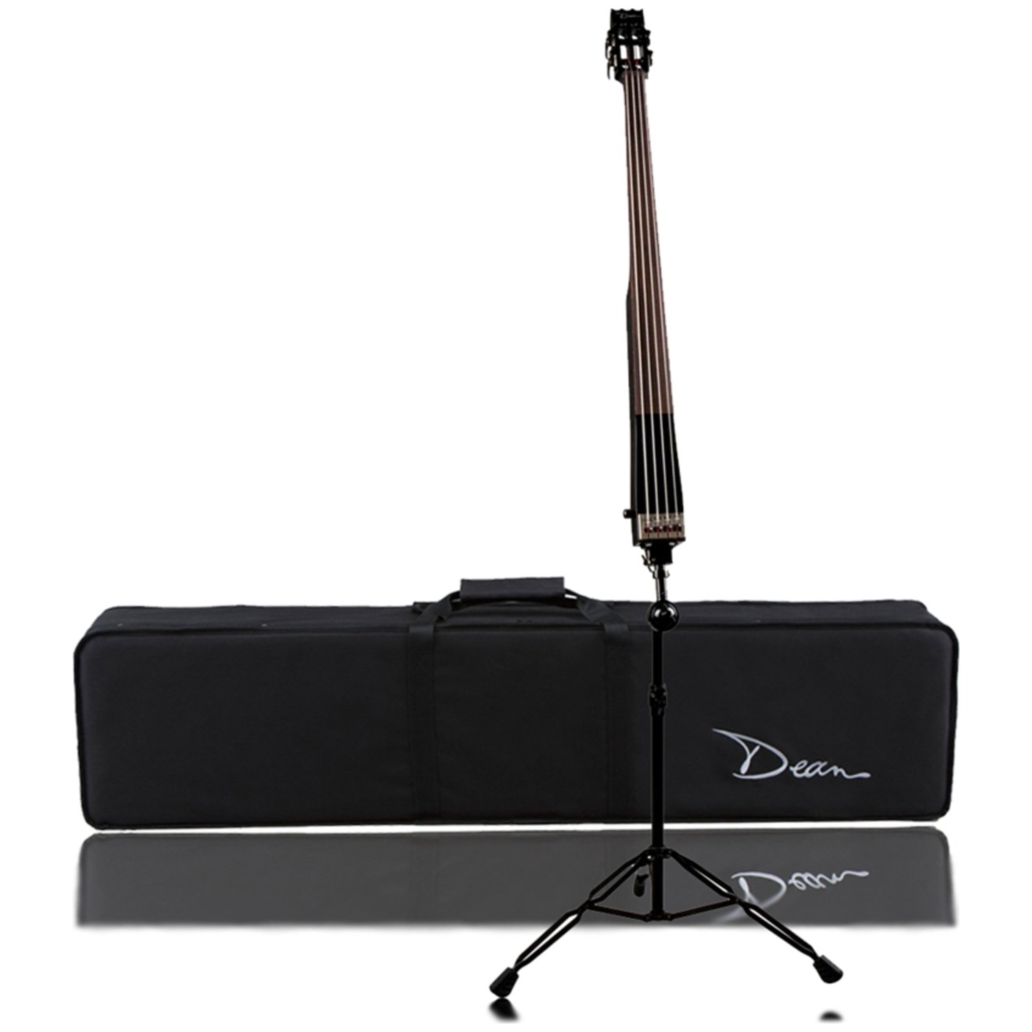 Dean Pace Bass 4-String Electric Upright Bass with Case - Classic Black