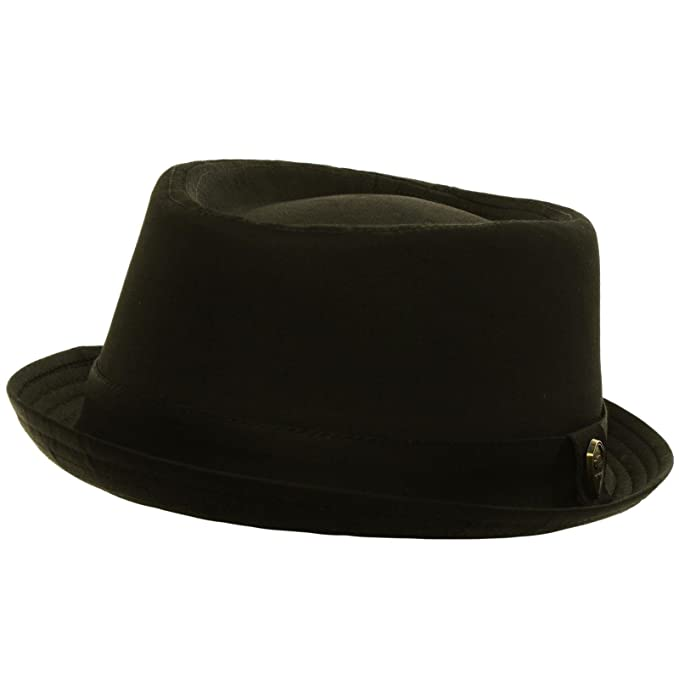 Men s Summer Cotton Upturn Brim Retro Lining Pork Pie Fedora Hat at ... e08e0c6b6ddc