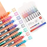 Deli 8 Colored Liquid Ink Pens, Ultra Fine Point (0.5 mm), 8 Assorted Colors Marker Pens, Instant Dry No Smudge Rolling Ball
