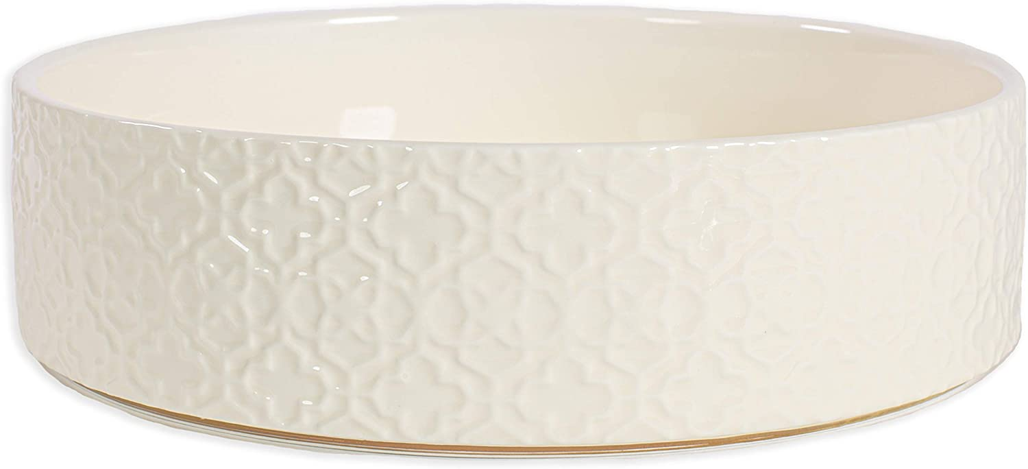 Kendra Scott Cute Dog Bowl, Microwave and Dishwasher Safe, Ceramic Dog Dish for Food and Water