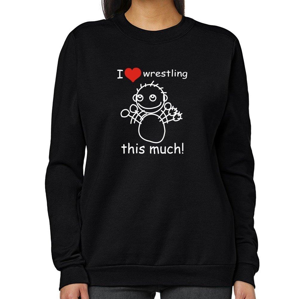Teeburon I love Wrestling this much! Women Sweatshirt by Teeburon