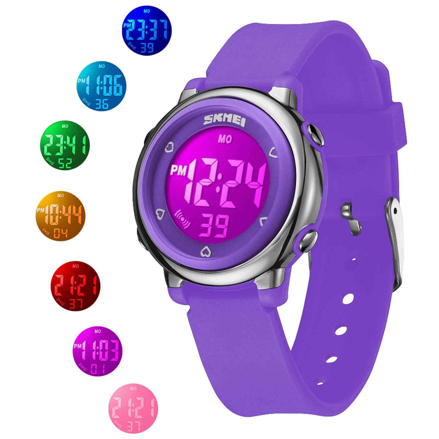 Kid Digital Watch, 50M Waterproof Fashion Gift Sport Watch with Alarm Timer for Girls, Boys and Teens