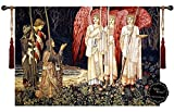 Holy Grail Knights Medieval Fine Art Wall Hanging Tapestry Home Decor with Free Tassels #A1 Size 54.5''W x 37''L