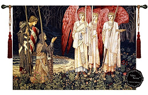 Holy Grail Knights Medieval Fine Art Wall Hanging Tapestry Home Decor with Free Tassels #A1 Size 54.5