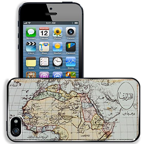 Reproductions Historical Map (Liili Apple iPhone 5 iPhone 5S Aluminum Backplate Bumper Snap iphone5/5s Case Image ID 1803 Photo from old reproduction Image ID 23322862 Historical map of Africa in Arabic script Published)