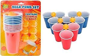 Beer Pong Set Drinking Game Party Cups Balls Drink Indoor Game Fun Beerpong