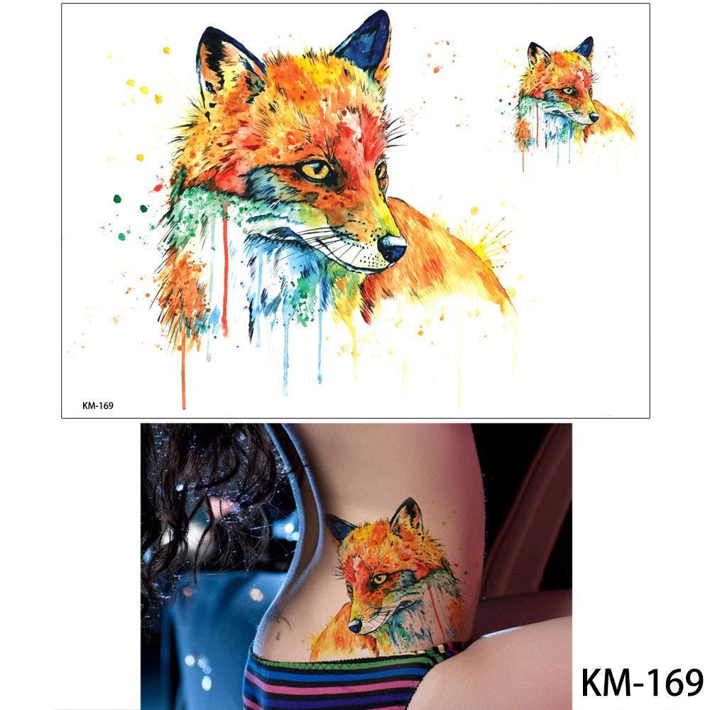 adgkitb 3pcs Animal Tattoo Sticker Owl Panda Patrón Decal Tatuaje ...