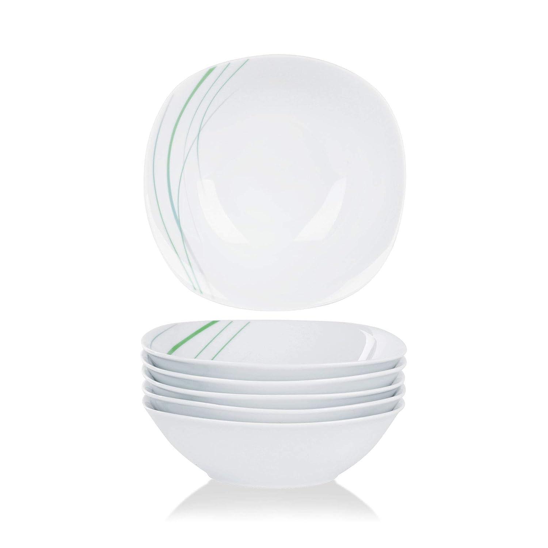 6pcs Assiette Creuse 21,5cm Veweet AVIVA 18pcs Assiettes Pocelaine Service de Table 6pcs Assiettes Plates 24,7cm 6pcs Assiette /à Dessert 19cm Vaisselles pour 6 Personnes