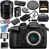 Panasonic Lumix DC-GH5 DC-GH5KBODY Mirrorless Micro Four Thirds Digital Camera Leica DG Vario-Elmarit 12-60mm f/2.8-4 ASPH. POWER O.I.S. Lens Bundle