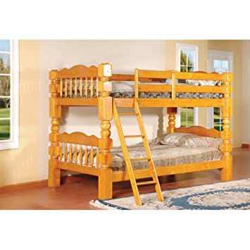 twin over twin bunk bed finish honey oak - Twin Bunk Bed Frame