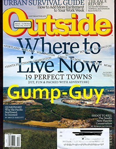 Outside Magazine October 2011 Where to Live Now, the Urban Survival Guide, Our Favorite Marathons, & Mozart of the Plains and - A Pack How To Camping Trip For