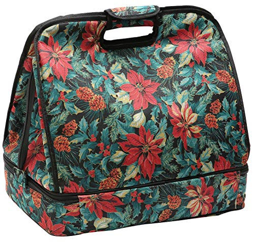 Kingshalor Extra Large Two-Double Insulated Cooler Bag 30L/40-Can, Waterproof Outdoor Portable Lunch Picnic Tote Bag for Beach Grocery Kayak Travel Camping (Flower)
