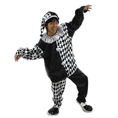 Amazon.com: patymo disfraz de payaso traje – -Blanco y Negro ...