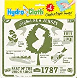Fiddler's Elbow Joyful, New Jersey Hydro Cloth | Eco-friendly Sponge Cloths | Reusable Sponge Cloths | Set of 2 Printed Swedish Dish Cloths | Replaces 30 Rolls of Paper Towels
