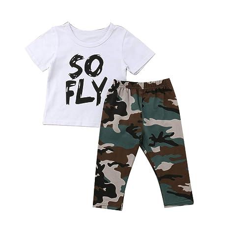 Ropa de verano para niños bebés Camisa de manga corta + ...