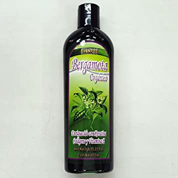 Bergamota Organico Shampoo 15.21 Fl Oz Enriquecido con Keratina, Colageno y Vitamina E