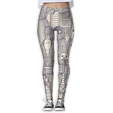 Amazon.com: luckadaw Yoga Pants, Womens Power Flex Horror ...