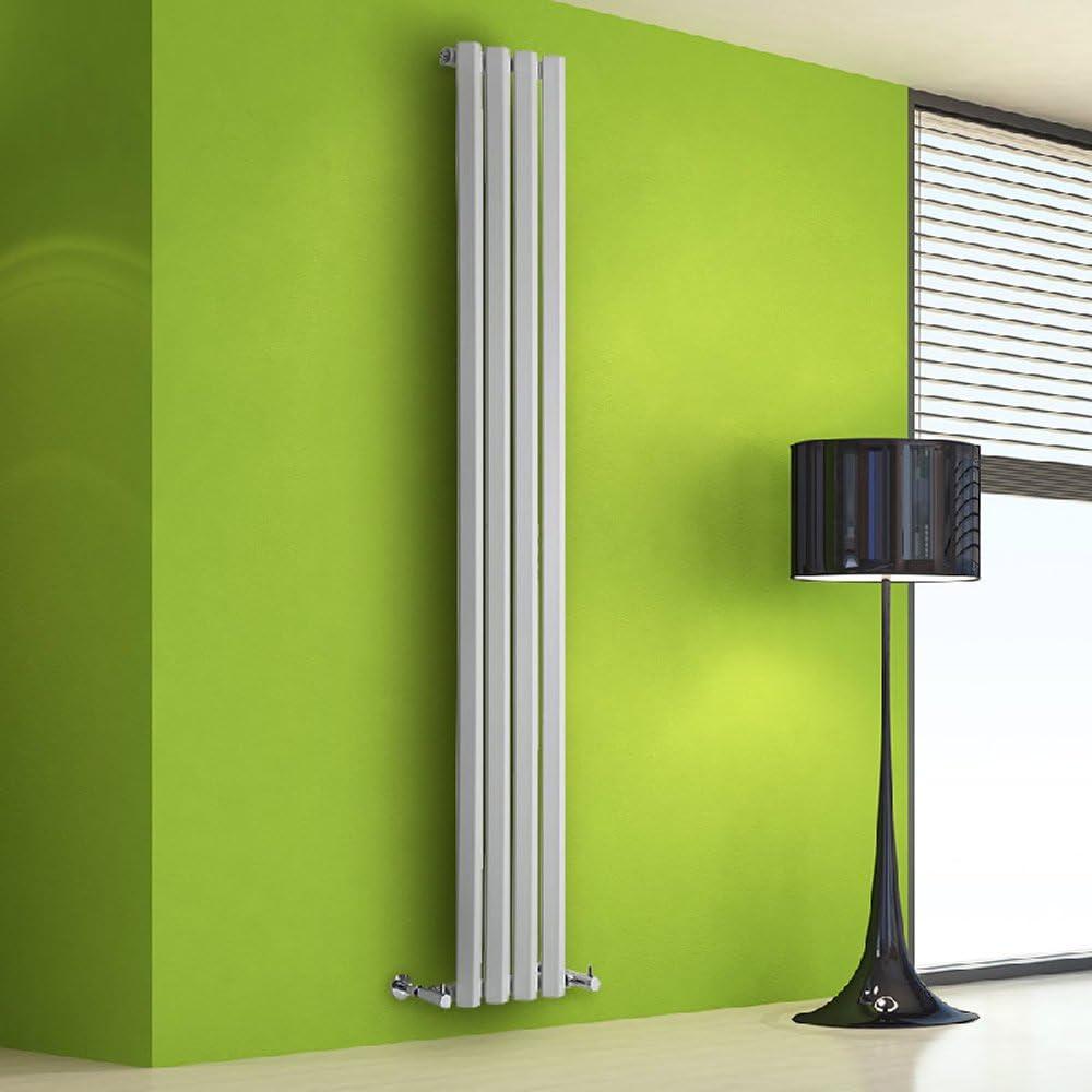 Radiador de Diseño Vertical - Blanco - 1780mm x 280mm x 60mm - 700 Vatios - Rombo: Amazon.es: Hogar