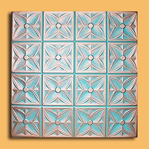 Antique Ceilings Inc  Margaretta Copper Patina  Styrofoam Ceiling Tile Package of 10 Tiles