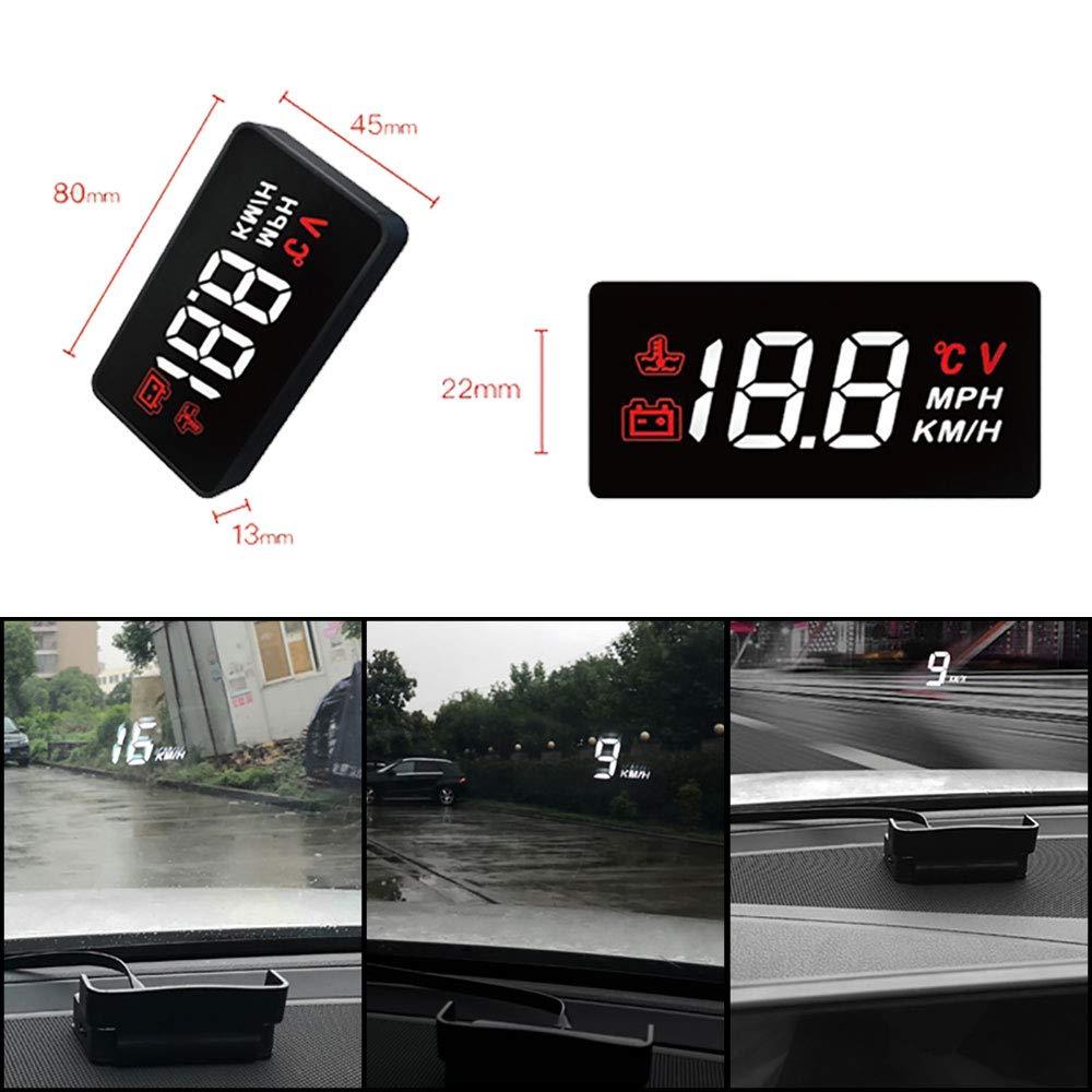"""Qianbao Head Up Display Car HUD 3.5/"""" Windshield Screen Projector with OBD II//EU OBD Interface Plug"""