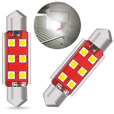 Seaponer RV Refrigerator Light Bulb, RV Fridge Light Bulbs, Fridge LED Upgrade, DC12V Replacement LED Bulb For Refrigerator Bulb, 214-2 Trailer Camper Motorhome Refrigerator Interior Light Bulb, 2PCS: Home Improvement