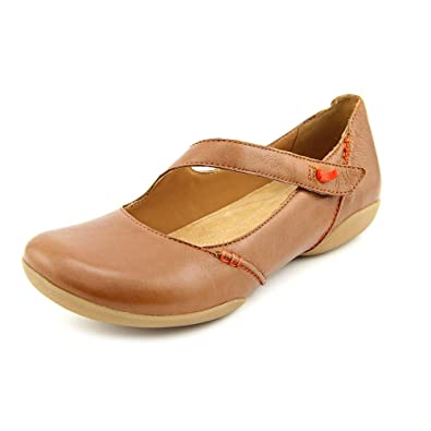 Clarks Felicia Plum Womens Brown Leather Mary Janes Shoes