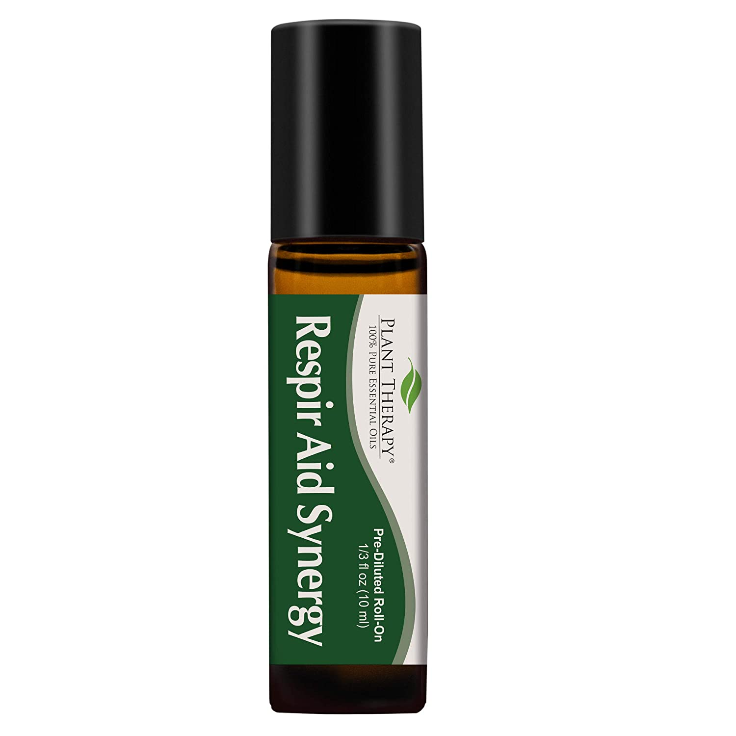 Plant Therapy Respir Aid Essential Oil - Sinus, Airway and Congestion Clearing Synergy Blend 100% Pure, Pre-Diluted Roll-On, Natural Aromatherapy, Therapeutic Grade 10 mL (1/3 oz)