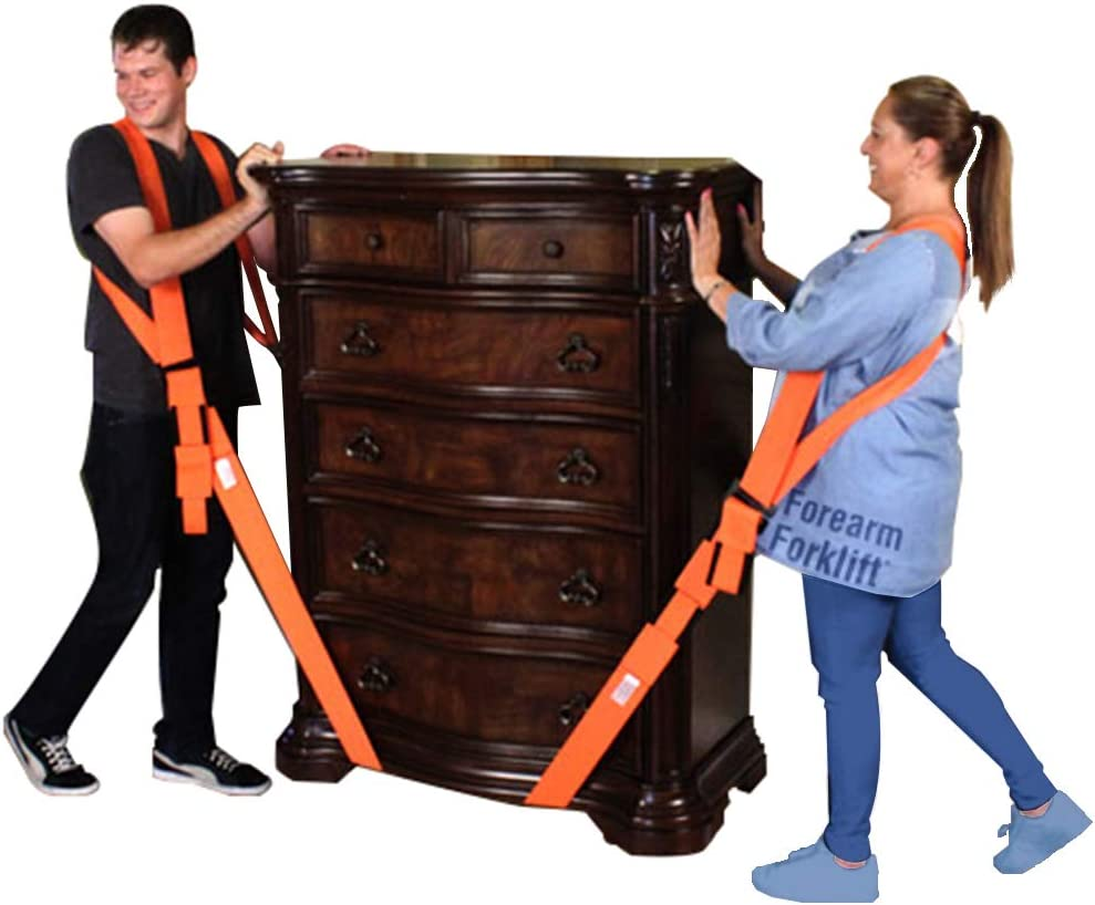 Amazon Com Forearm Forklift Ffmcvp Harness 2 Person Shoulder Lifting And Moving System For Furniture Appliances Mattresses Or Heavy Objects Up To 800 Pounds Orange Home Improvement