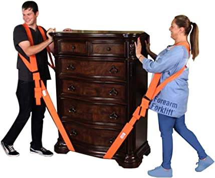 AOAFUN Forearm Forklift Lifting Straps Furniture Moving Belt for Lifting Bulky Items And Secure Furniture Carry or Any Heavy Object. Lift Easily Move Appliances,Mattresses