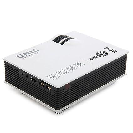 Amazon.com: UNIC UC40+ Mini Pico Portable Projector HDMI ...