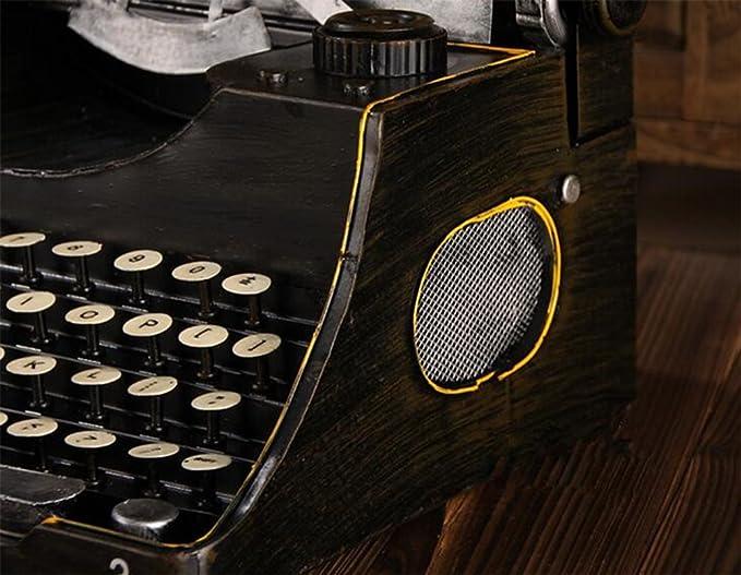 weiwei Modelo De Máquina De Escribir Retro, Arte De Máquina De Hierro Forjado Telégrafo Cafetería Decoración De Tienda De Ropa: Amazon.es: Hogar