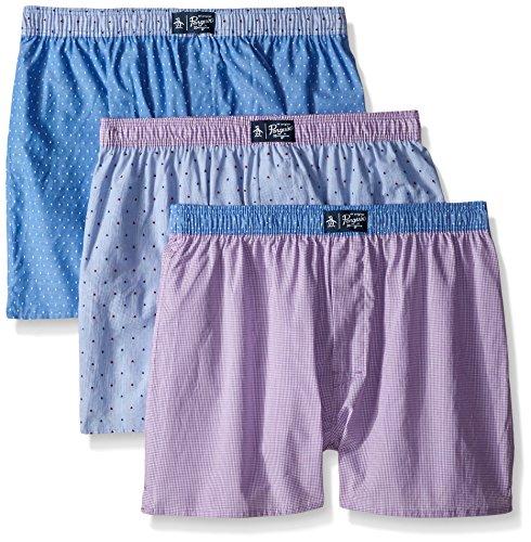 original-penguin-mens-3-pack-assorted-purple-woven-boxer-purple-plaid-pink-purple-medium