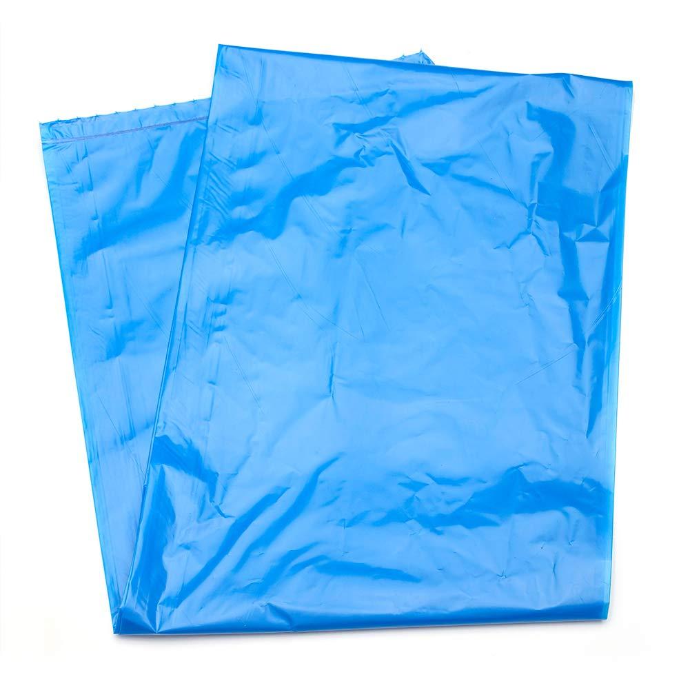 MediChoice Hospital Linen Bag, w/Reinforced Seams, Non-Printed, High Density, Polyethylene, 20-30 Gallon, 31x43 Inch, 14 Micron, Blue 1314Z6143HXO (Case of 250)
