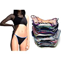 Sexy Basics Womens 12 Pack String Bikini Briefs