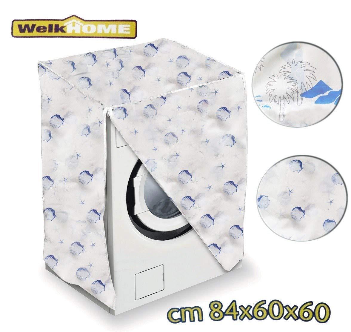 PALMERAS WELKHOME mws1334//2 Funda cubierta protectora de pl/ástico anti-manchas para la lavadora medida universal 80 x 60 x 60 cm