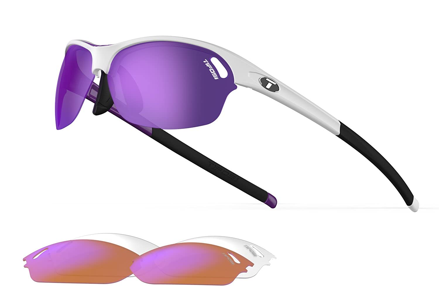 f97aa72526 Amazon.com  Tifosi Wasp Wrap Sunglasses Crystal Clear 140 mm  Clothing