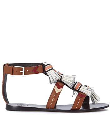 99266603d0f Tory Burch Women s Weaver Leather Sandal with Nappas 36()-6(US)