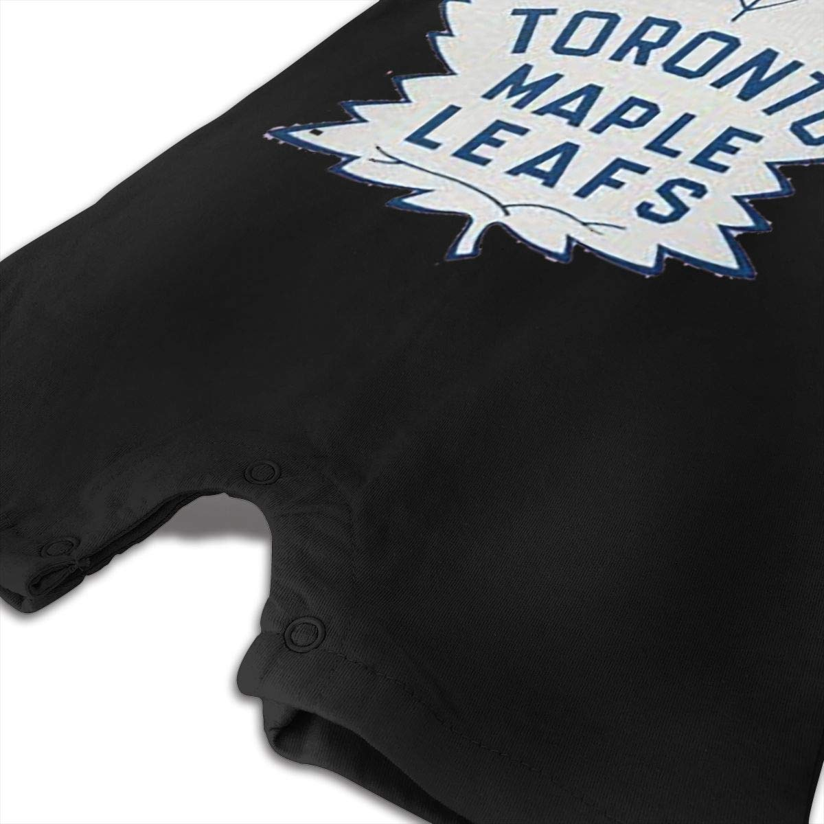 Baby Infant Boy Girl Short Sleeve Hockey-Logo-Toronto-Maple-Leafs Jumpsuit Romper Pajamas Clothes Summer Outfits Black