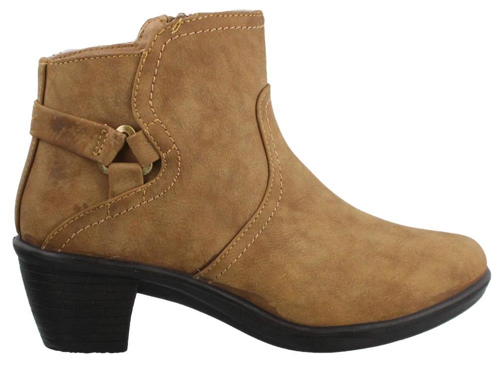 Easy Street Women's Dawnta Ankle Bootie B01KG6OCQA 8.5 2A(N) US|Camel