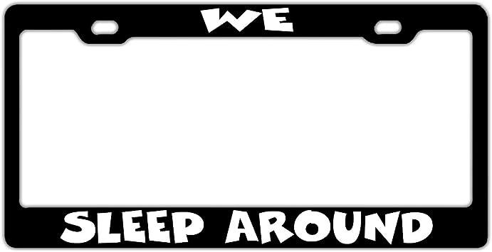 FunnyLpopoiamef Personalized Aluminum License Plate Frame Car Tag Frame 2 Hole Screws