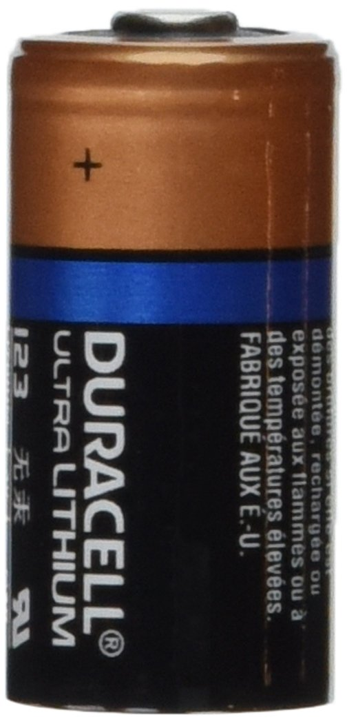 4 Pcs Duracell Lithium 3V CR123A DL123A CR17345 Leak Resistant Long Lasting Batteries