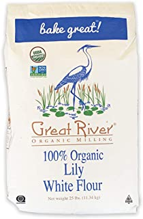 product image for Great River Organic Milling, Lily White Bread Flour, All-Purpose, Organic, 25 Lb (Pack Of 1)