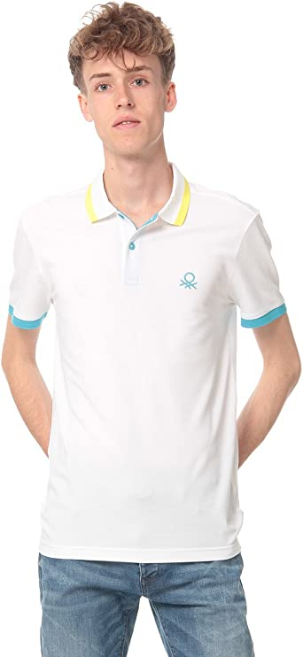 United Colors of Benetton H/s Polo Shirt 3aonj3063, Blanco (White ...