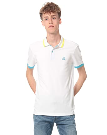 United Colors of Benetton H/s Polo Shirt 3aonj3063, Hombre, Blanco ...