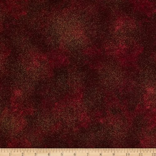 - Timeless Treasures Autumn Splendor Shimmer Texture Spice Red Fabric by The Yard