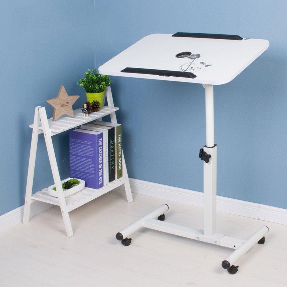 ZZHF Table pliante Bureau paresseux pour ordinateur portable Lit de ménage petit bureau 8 couleurs en option 56 * 62cm